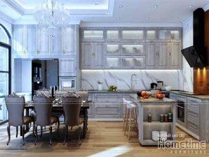 Thiết kế tủ bếp Tân Cổ Điển tại biệt thự Vinhomes Imperia Hải Phòng