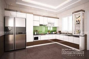 tủ bếp phủ acrylic