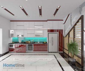 Tủ bếp acrylic nhà cô Thúy Hải Phòng