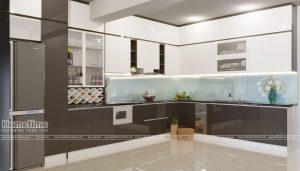 Thiết kế và thi công tủ bếp hiện đại nhà anh Hiệp
