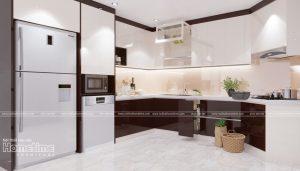 Thiết kế tủ bếp nhựa nhà anh Thanh